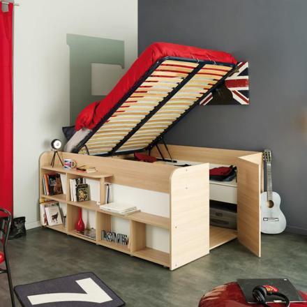 lit avec rangement intégré