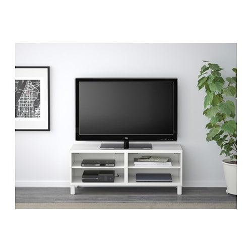 meuble tv besta blanc